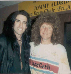 Myself and the great Tommy Aldridge 1991
